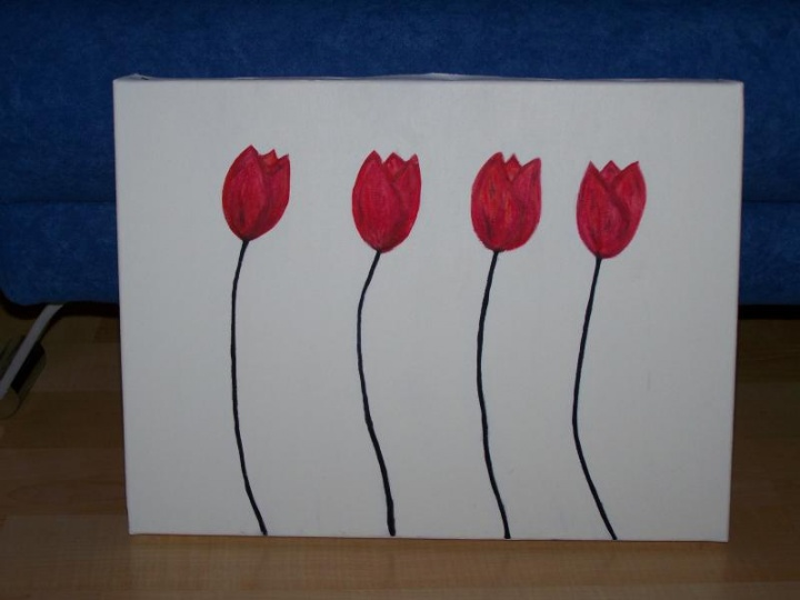Red White Black Artist Ravenmight Handmade Acrylic Painting Ideas Made By Drawing