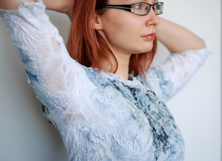 Mottled gray blouse summer picture no. 3