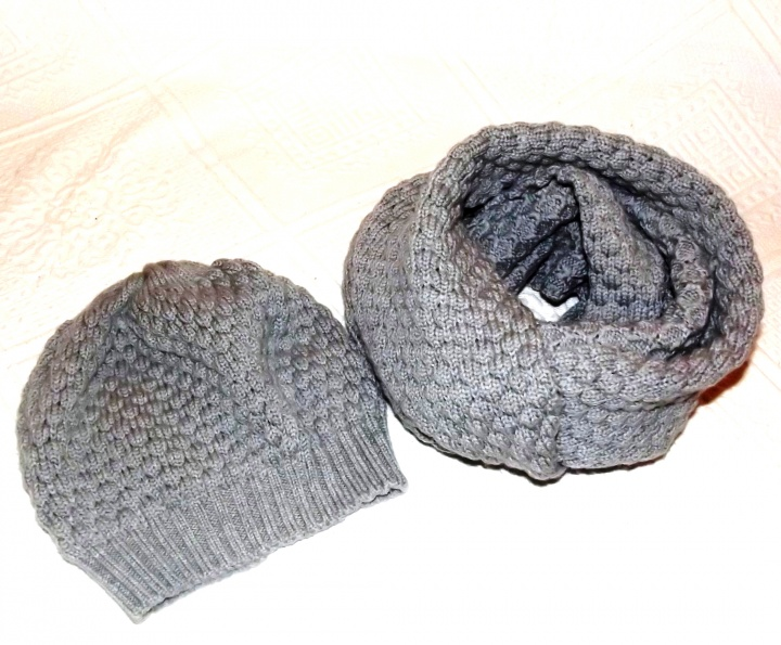 Cap and infinity scarf - Children Set picture no. 2