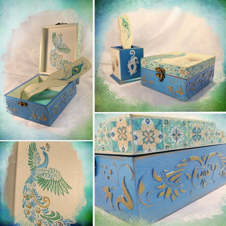 "Boxes set ""Peacock Beauty"" picture no. 2"