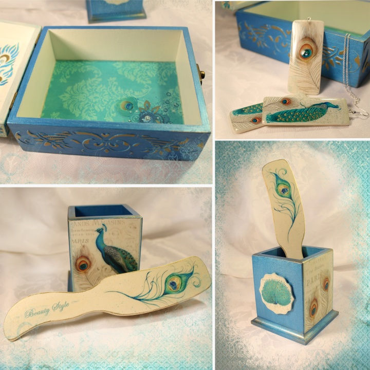 "Boxes set ""Peacock Beauty"" picture no. 3"