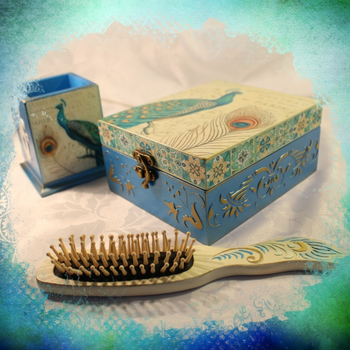 "Boxes set ""Peacock Beauty"""