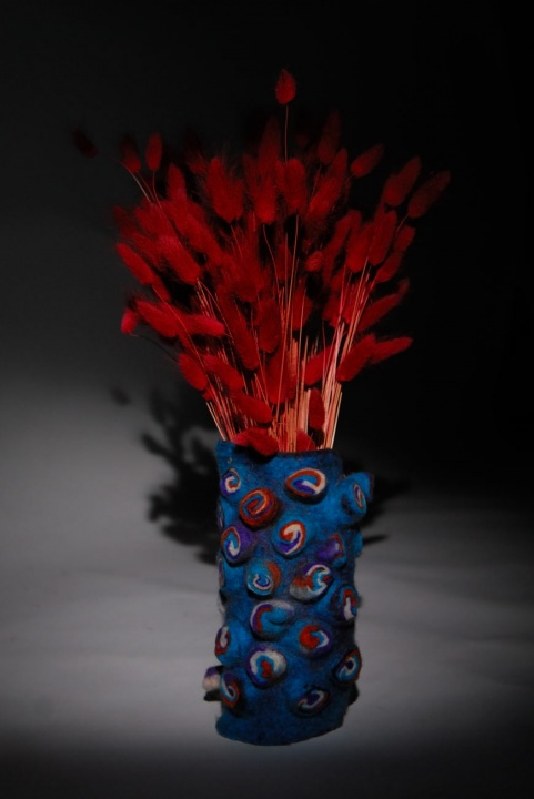 "Interior Detail Felted Vase ""Morning breath"""