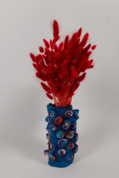 "Interior Detail Felted Vase ""Morning breath"" picture no. 3"