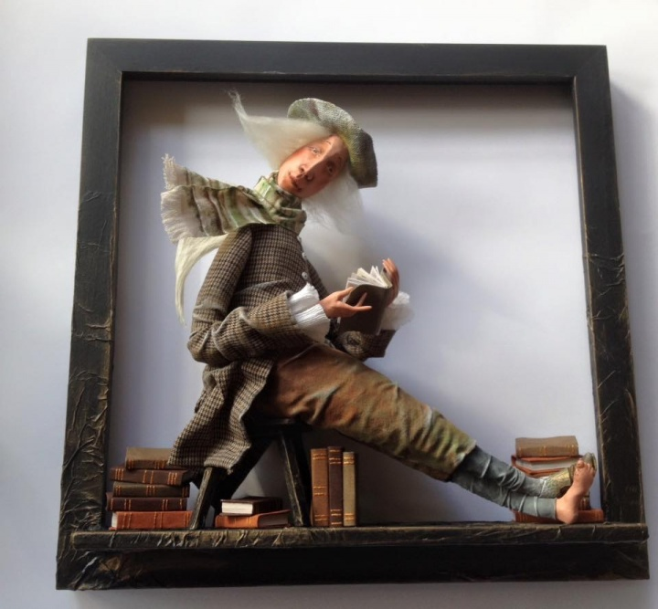 "OOAK doll ""Angel of books"""