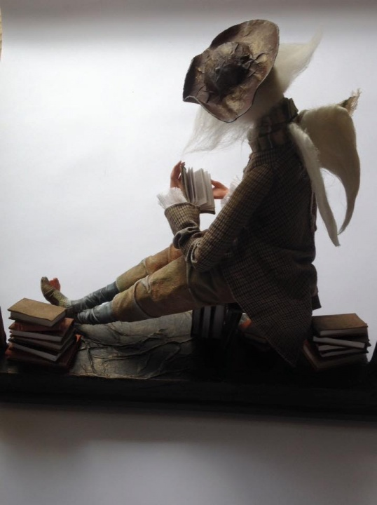 "OOAK doll ""Angel of books"" picture no. 3"