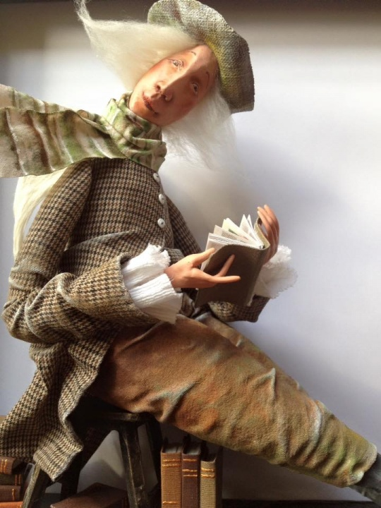 "OOAK doll ""Angel of books"" picture no. 2"