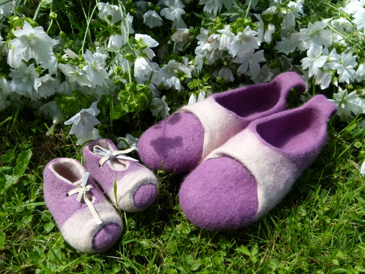 "slippers for mom and baby "" together """