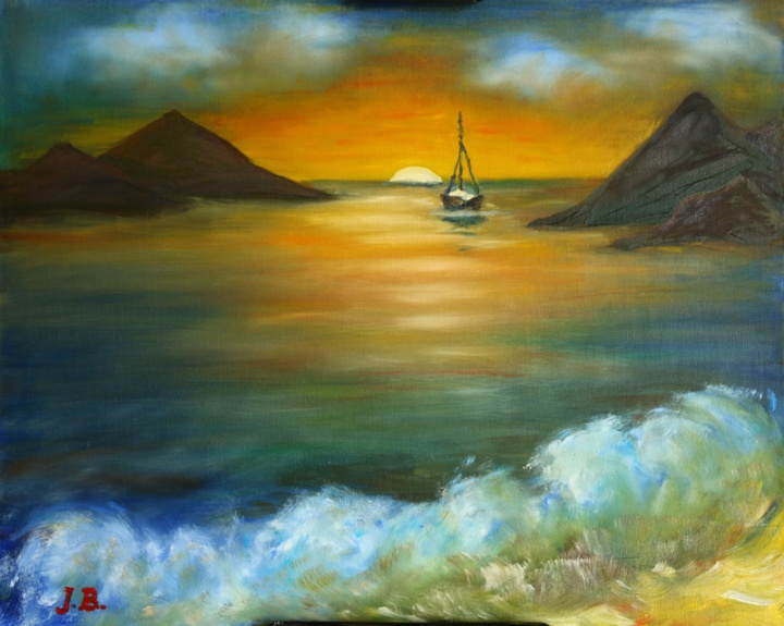 colors of the sunset artist trintuke handmade oil painting ideas