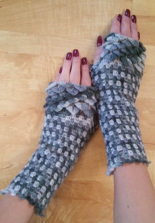 "Fingerless gloves "" Two-colored"" picture no. 3"