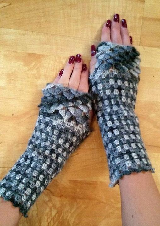 "Fingerless gloves "" Two-colored"""