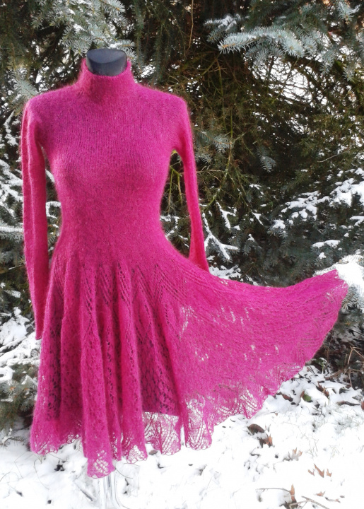 Mohair lace dress picture no. 2