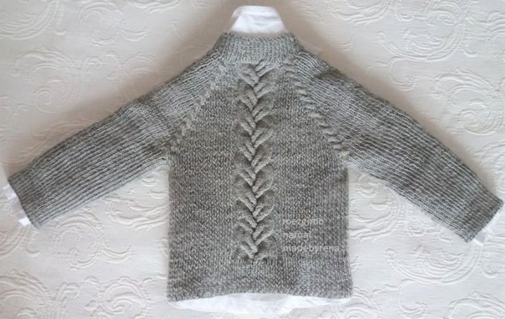 Grey kids sweater  picture no. 2