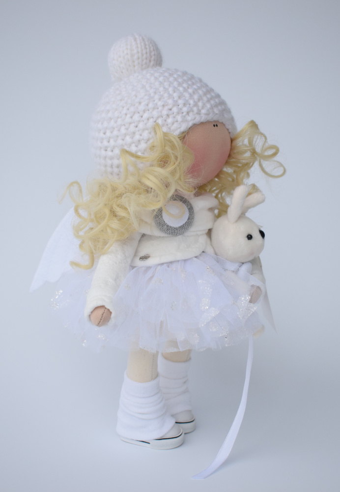 Handmade textile doll angel