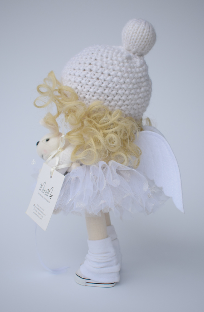 Handmade textile doll angel picture no. 2