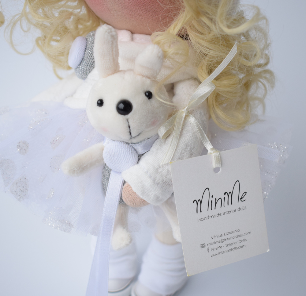 Handmade textile doll angel picture no. 3