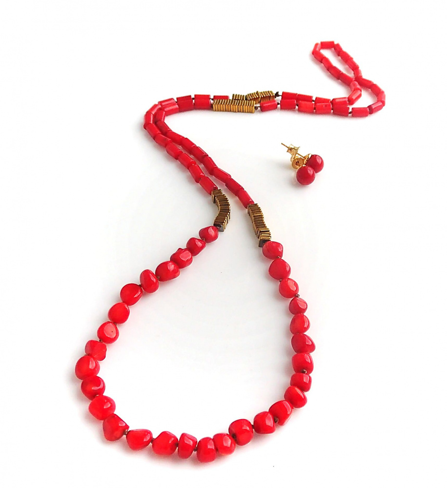 Red corals and Gold complect