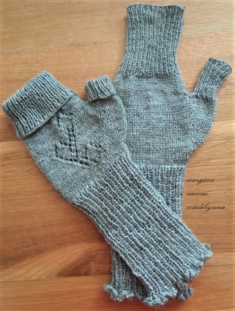 "Fingerless arm warmers ""almost gloves "" picture no. 2"