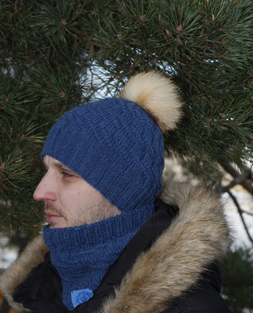Men's Knitted Hat and cowl picture no. 2
