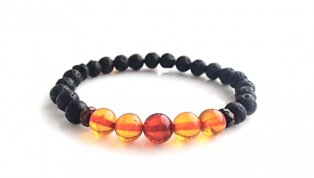 Lava and Amber bracelet picture no. 2