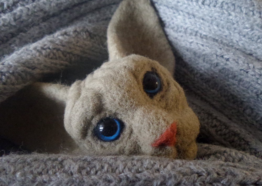 Sphynx mom birthday gift Needle felted cat Bag decor