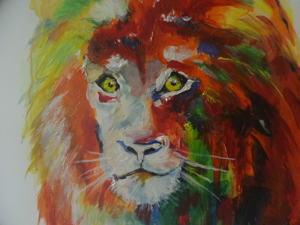 Original acrylic painting Lion Horoscope picture no. 2