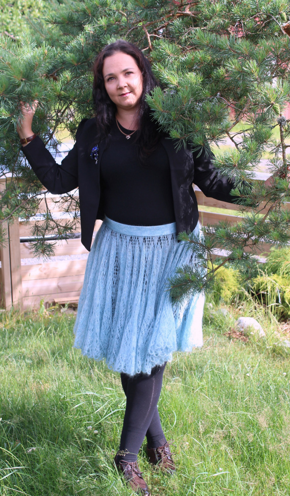 Blue Mohair skirt picture no. 3