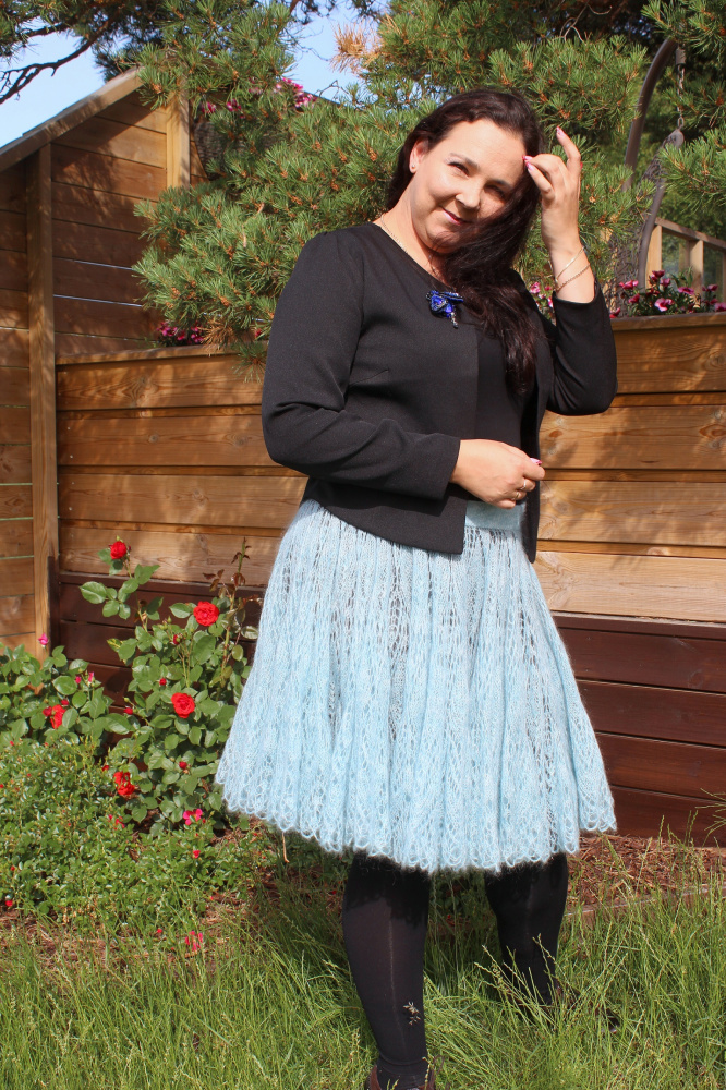 Blue Mohair skirt