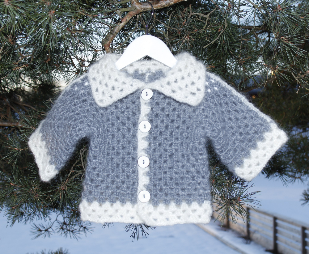 Crochet baby cardigan picture no. 3