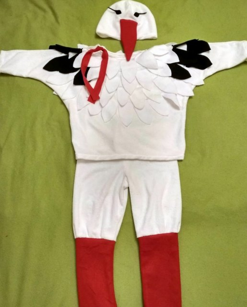 Stork Carnival Costume for kids picture no. 2