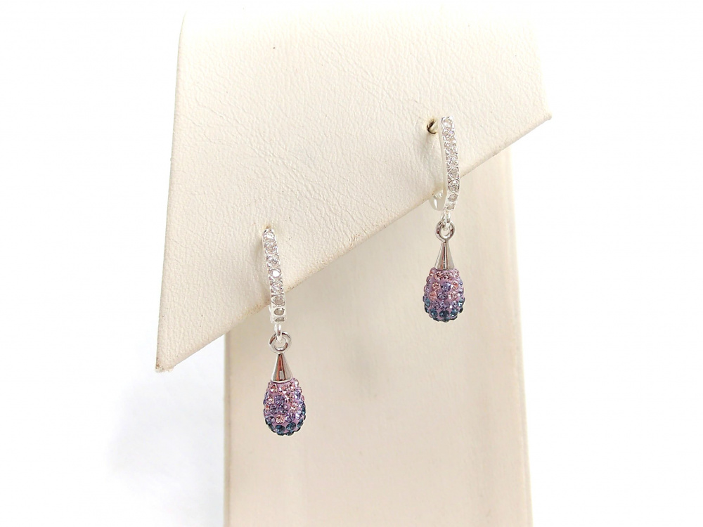 Small earrings Swarovski drop picture no. 2