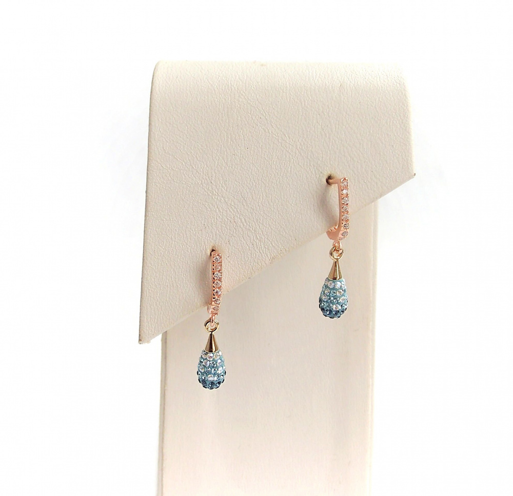 Small Drop earrings Montana- Aquamarine picture no. 2