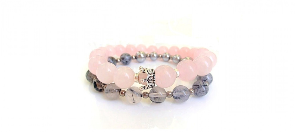 Rose and Grey bracelets