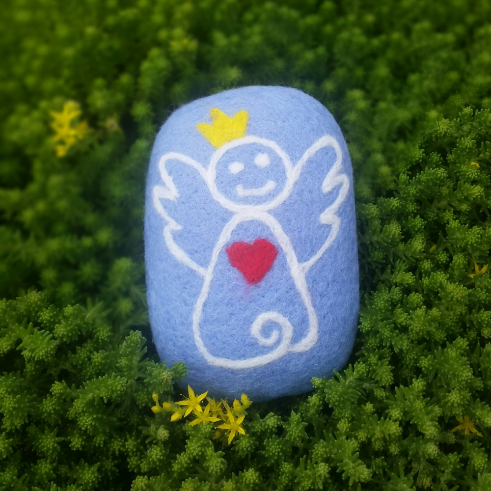 "Felted soap ""Angel"""