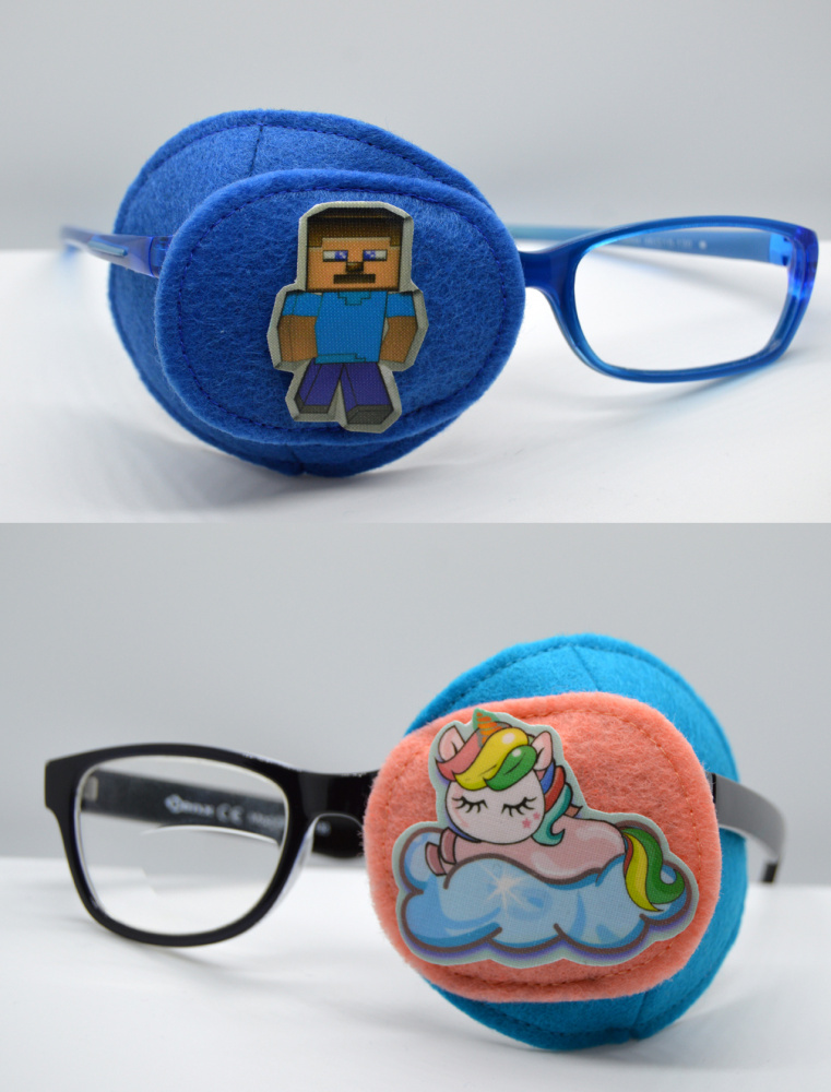 comfortable eye patch/ fully obscured eye patch
