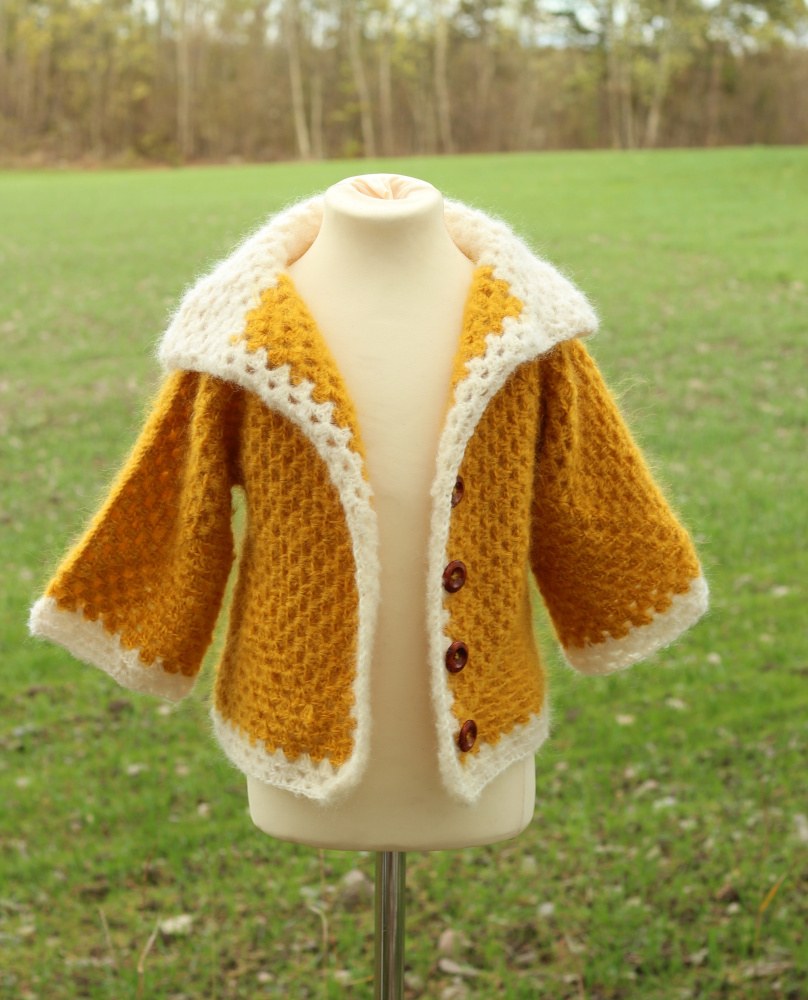 Crochet girl cardigan picture no. 3