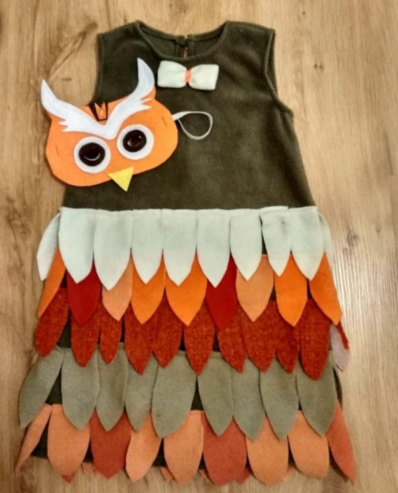 Owl, bird carnival costume for a girl picture no. 3