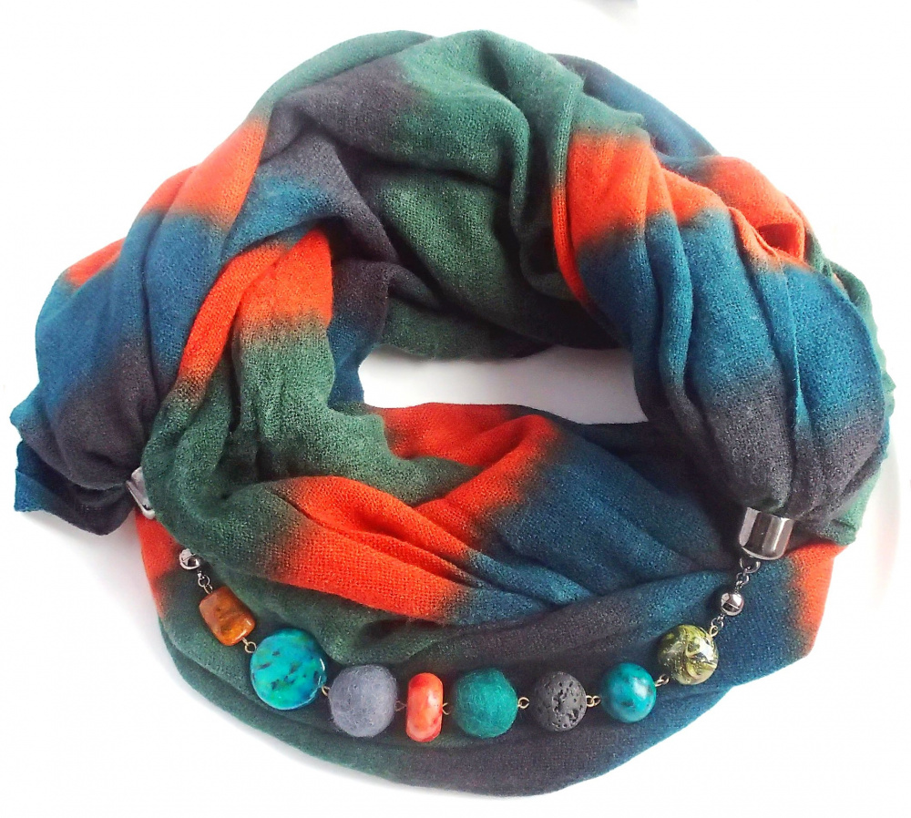 "Scarf ""Warm Autumn"" picture no. 2"