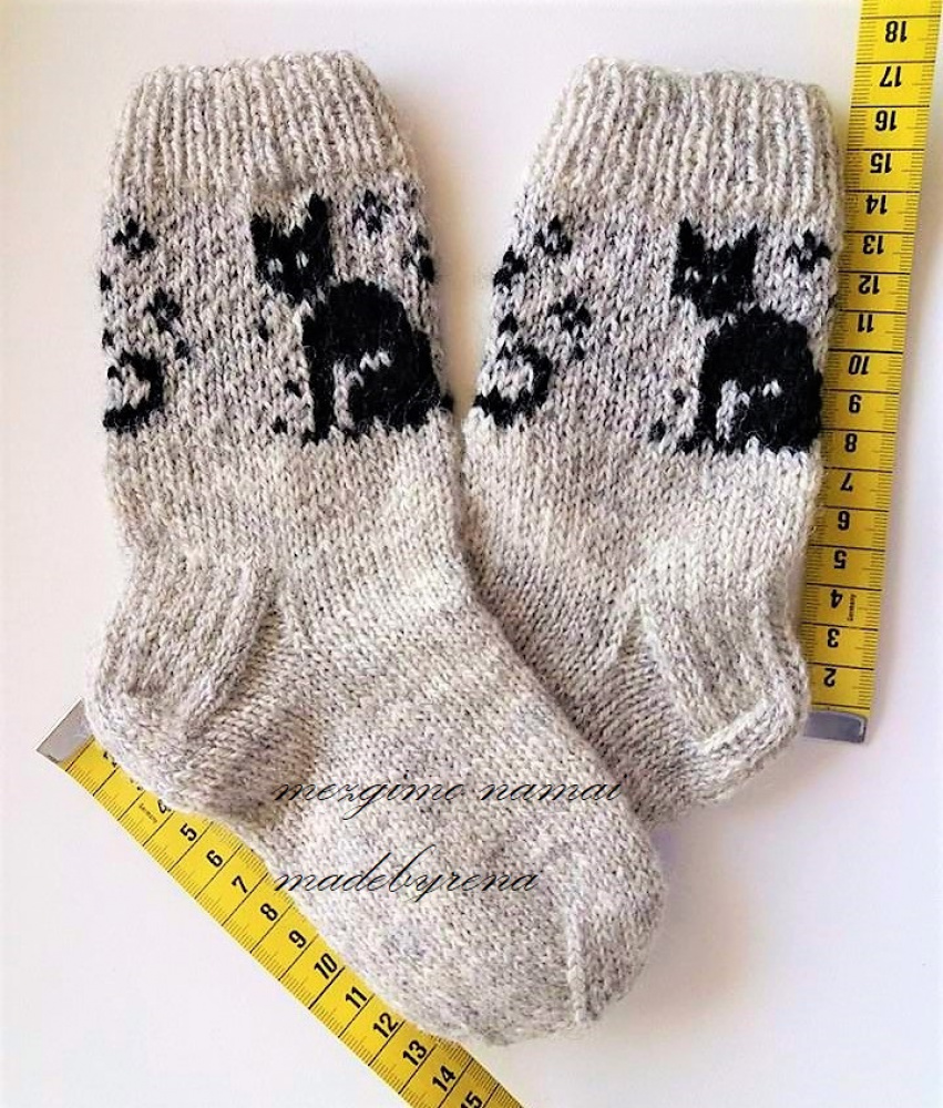 Kids  knit socks wool