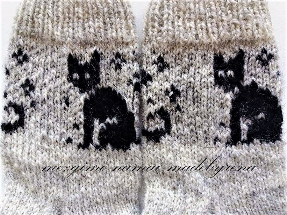 Kids  knit socks wool  picture no. 3