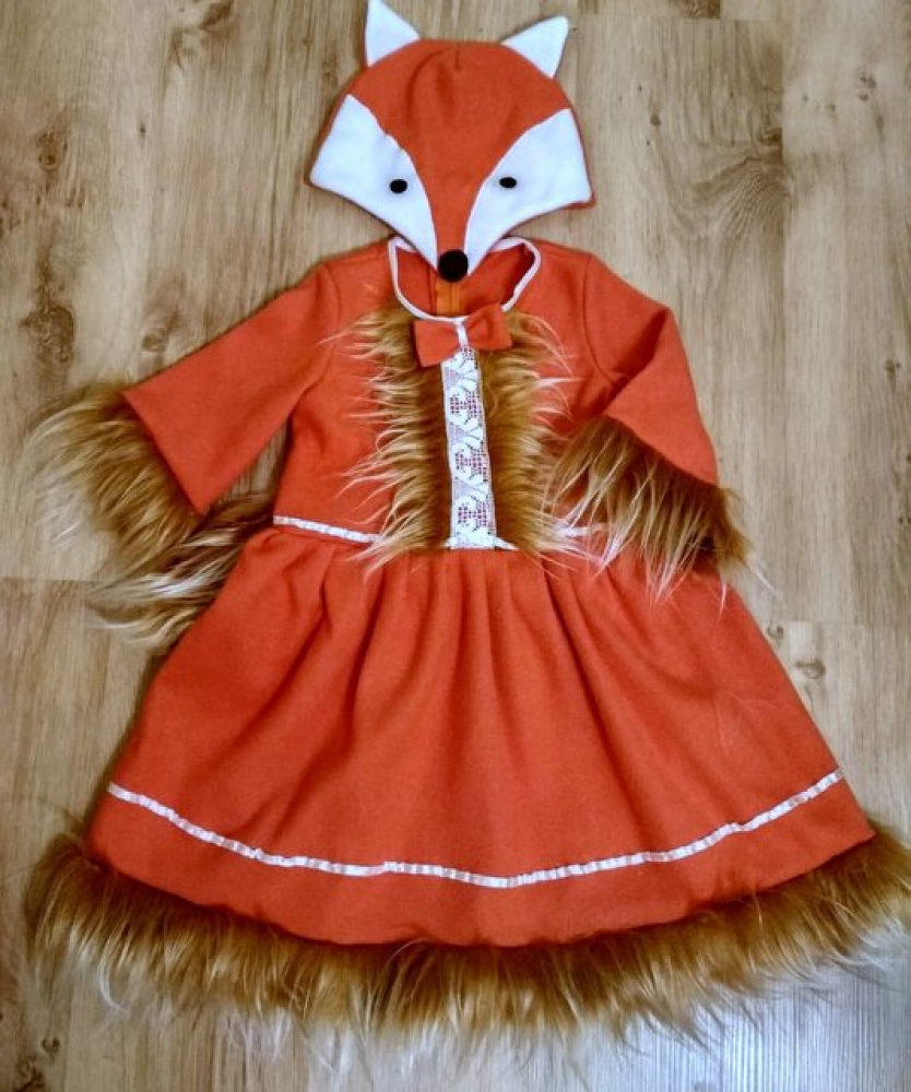 Fox carnival costume for girls