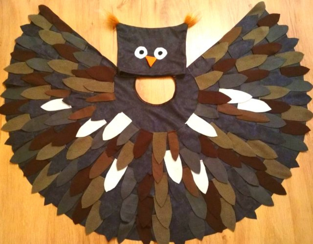 Owl, bird carnival costume for kids