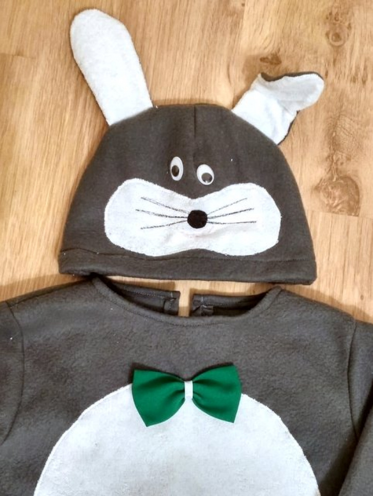Hare, bunny carnival costume for kids