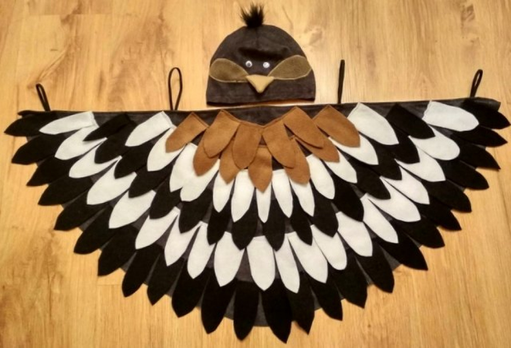 Bird, sparrow carnival costume for kids