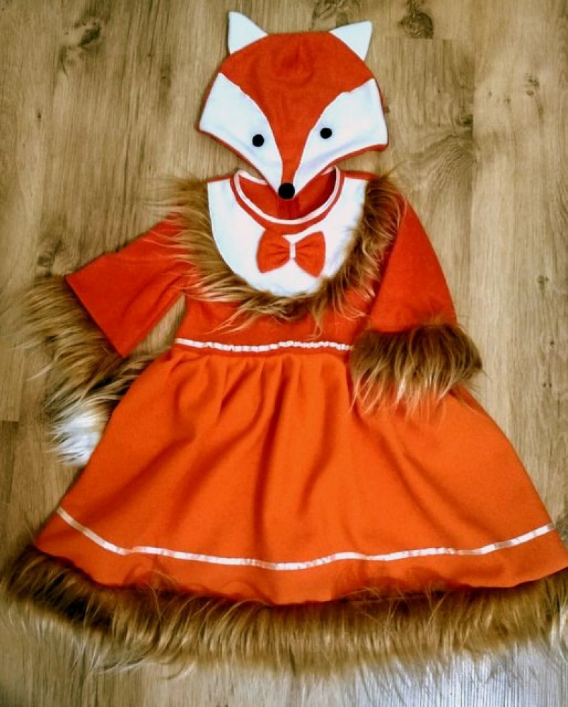Fox carnival costume for a girl picture no. 2