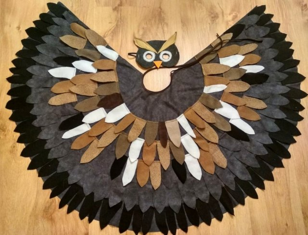Owl carnival  costume for kids