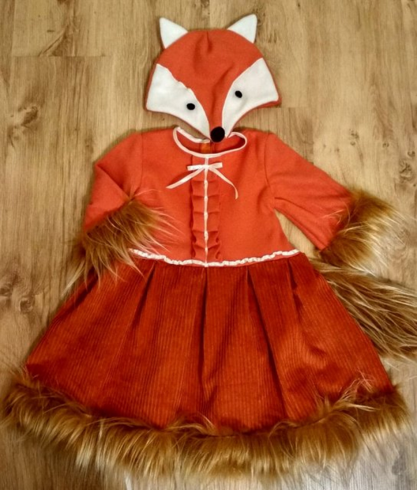 Fox carnival costume for girls picture no. 2