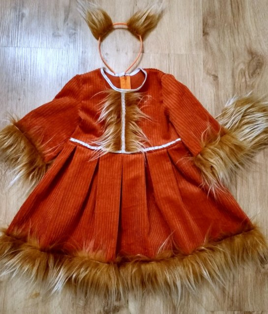 Squirrel carnival costume for the girl: +100-106cm;