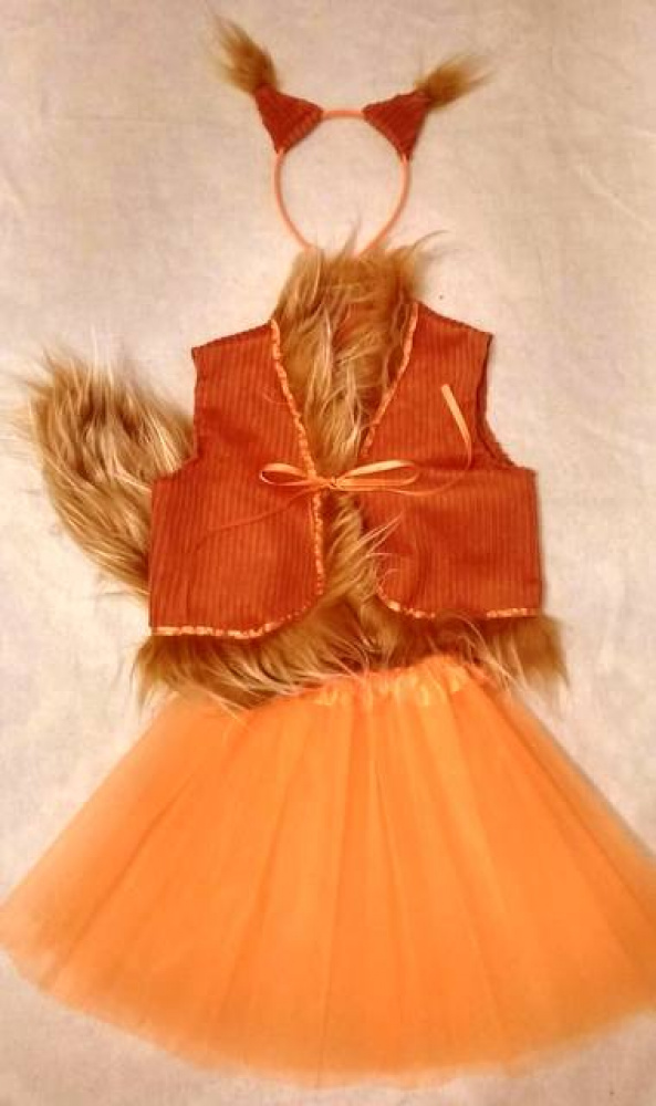 Squirrel carnival costume for a girl