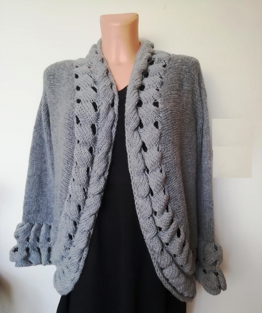 "Cardigan from the ""Spring Color"" series - gray"